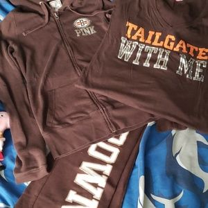 VS Pink Cleveland BROWNS 3 PC Outfit